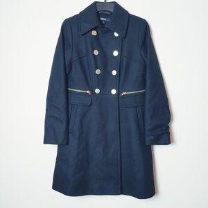 DKNY Black Double Breasted Pea Coat. Size 4